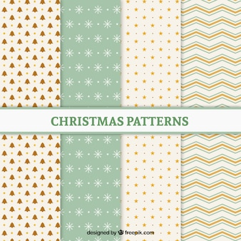 Christmas patterns with soft colors