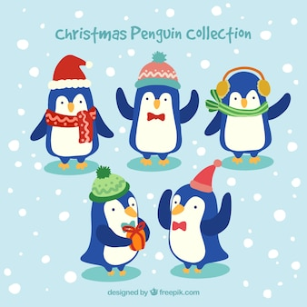 Christmas penguins collection