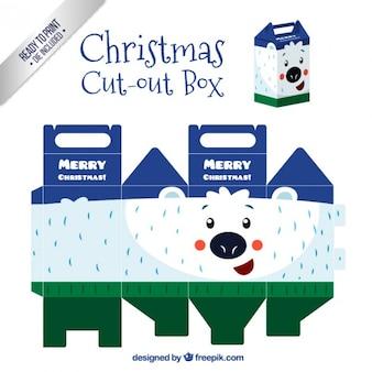 Christmas polar bear cut out box