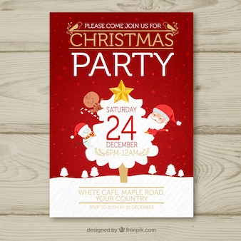 Christmas poster with classic elements