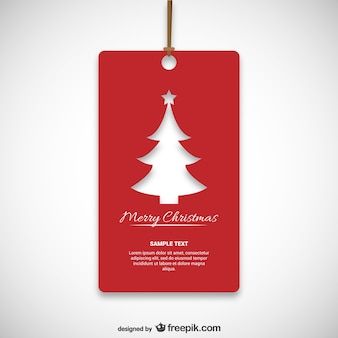 Christmas red tag