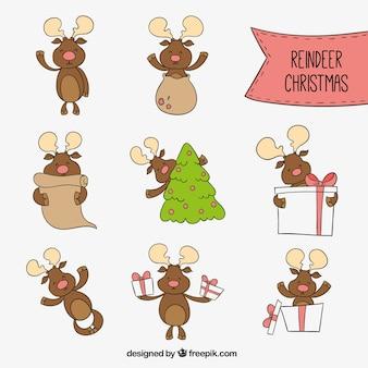 Christmas reindeer cartoons
