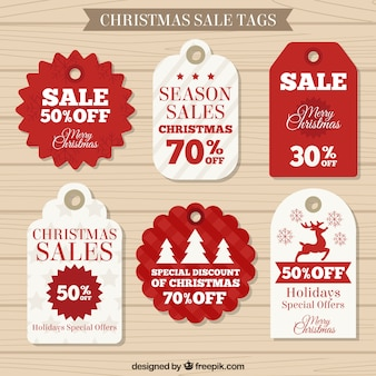 Christmas Sale Labels Collection