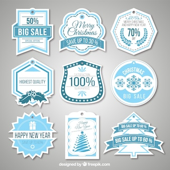 Christmas Sales Labels