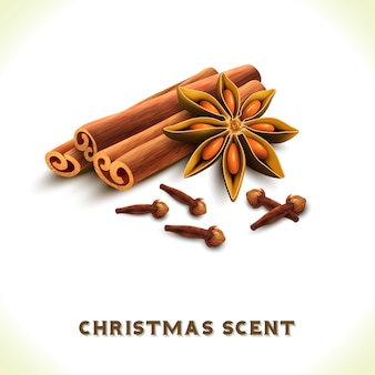 Christmas scent background design