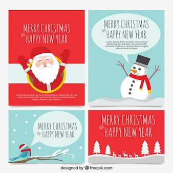 christmas season card set
