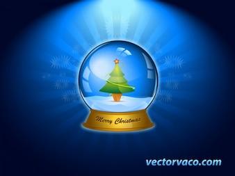 Christmas snowball vector
