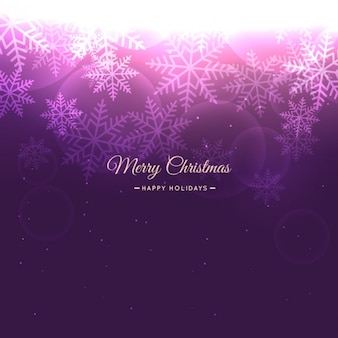 Christmas snowflakes background in purple color