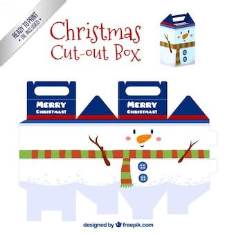Christmas snowman box