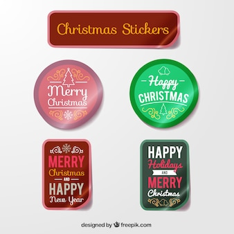 Christmas Sticker Labels Collection