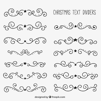Christmas text dividers
