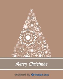 ライトで作られたクリスマスツリー