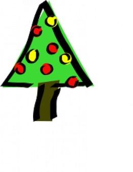 christmas tree sketche