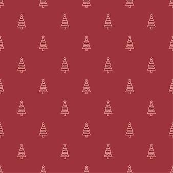 クリスマスツリーイラストパターンプレミアムベクトル