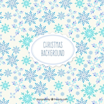 Christmast Background with Snowflakes