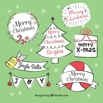 Chrsitmas labels with fun style