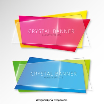 Chystal banners set