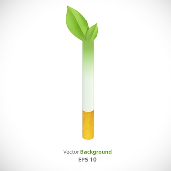 Cigarette becoming plant