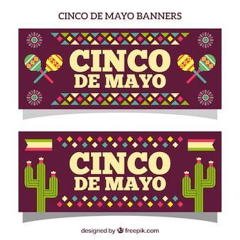 Cinco de mayo banner with