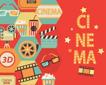 Cinema background, vector.