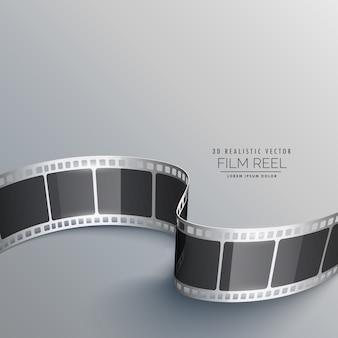 Cinema background with 3d film strip