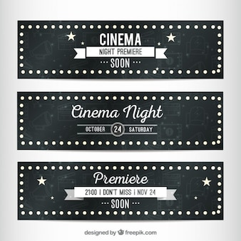 Cinema banners in signboard style