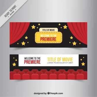 Cinema banners with stars
