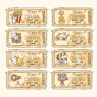 Cinema tickets collection