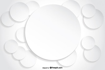Circle Background Paper Cutout effect