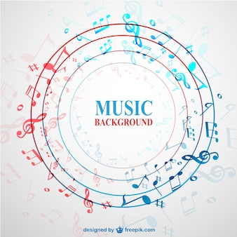 Circle background with music notes