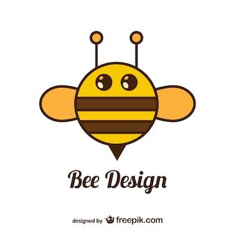 Circle bee vector design