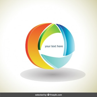 Circle colorful 3d logo