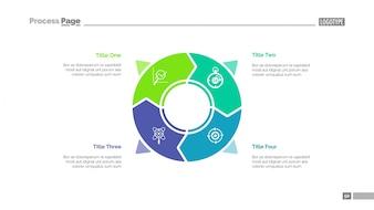 Circle infographics slide template