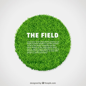 Circle of green grass