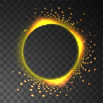 シャイニー明るい円形の背景