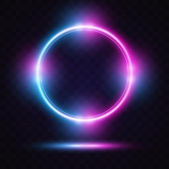 Circle with glow light design