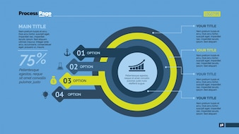 Circles and arrows infographic design