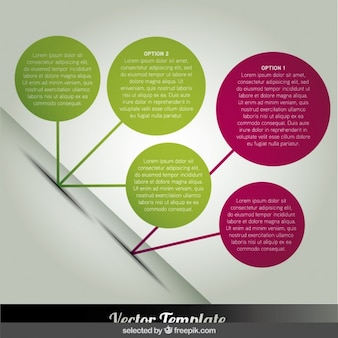Circles infographic in diagonal position
