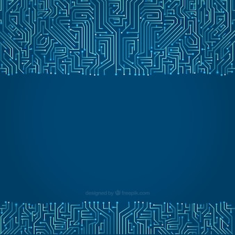 Circuit background in blue tones