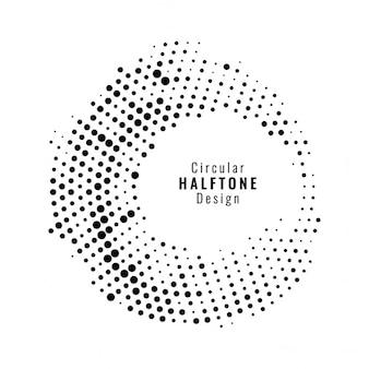 白い背景の上に円形のハーフトーンデザイン