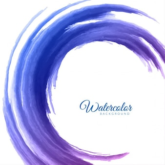 Circular background with blue watercolor