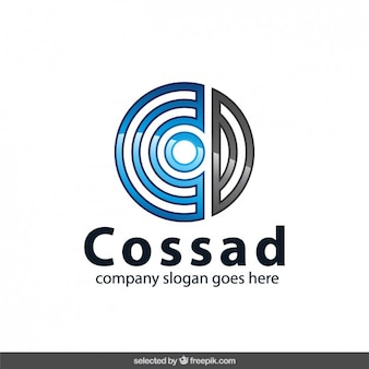 Circular blue and grey logotype