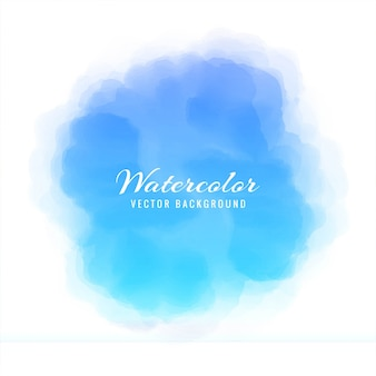 Circular blue watercolor background
