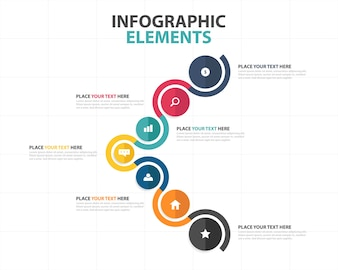 Circular corporate infographic template