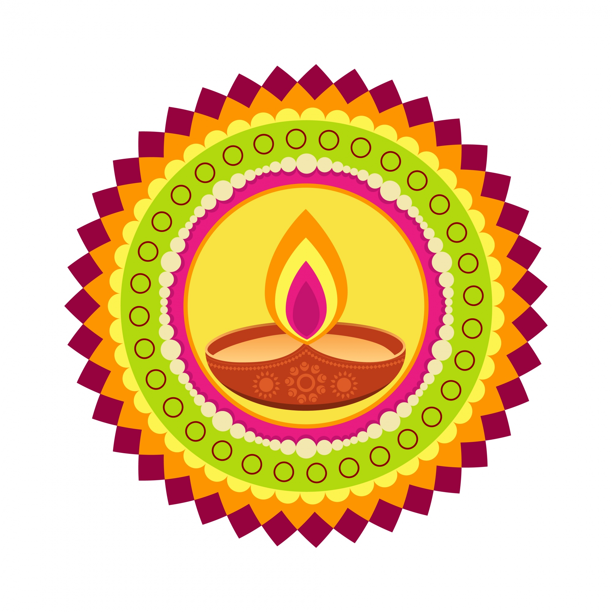 Circular design for diwali festival