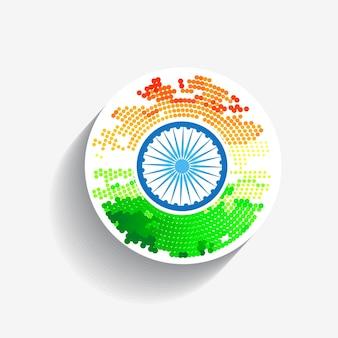 Circular design for indian independence day