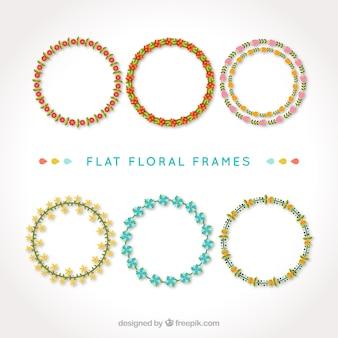 Circular floral frames