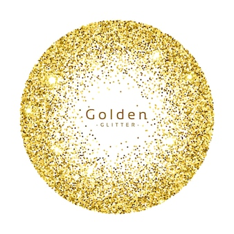 Circular golden glitter background