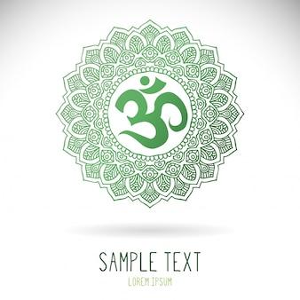 Circular green ethnic mandala illustration