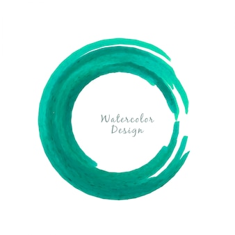 Circular green watercolor design background